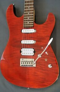Swing Guitar Technology S-2 Stage - Flame Maple Guitar Red NEW