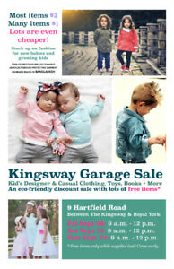 Kingsway Garage Sale - Kids Clothing + Toys + Books