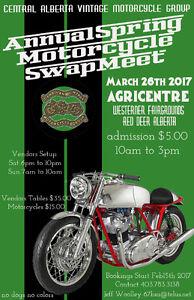 Central Alberta Vintage Motorcycle Group - Spring Swap Meet