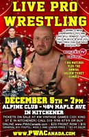 PWA Live Pro Wrestling w/ Over top rope Rumble