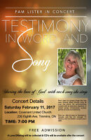 Free Gospel Concert with PAM LISTER!!!