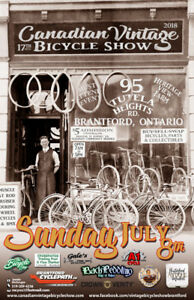 2018 Canadian Vintage Bicycle Show - Date Changed to July 8th