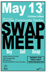 ***TABLES AVAILABLE. SPRING SWAP MEET****