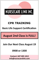 GET CPR BLS CERTIFIED ON 19TH AUG 9AM BOOK A PLACE NOW