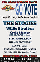 Pre-Election Day Show, Oct 15th at The Carleton