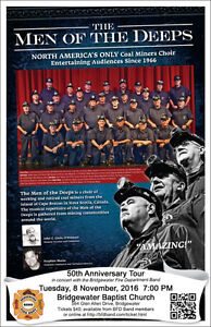 Men of the Deeps 50th Anniversary Tour