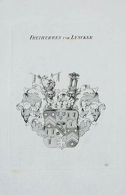 1847 Wappen von Lyncker Kupferstich Tyroff