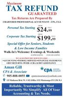 Maximum Tax Refund - Excellent Accounting Services!