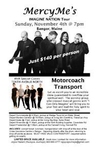 MercyMe and Tenth Avenue North in Bangor, Maine - Tour Group
