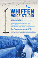Learn to Sing with Whiffen Voice Studio