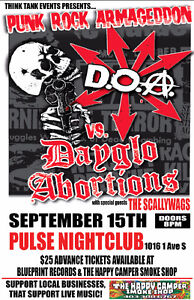 DOA vs Dayglo Abortions with The Scallywags