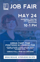 Job Fair (Various Positions) on May 24th (10 am - 1 pm)