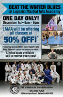 50% OFF - NOW at Loyalist Martial Arts Academy