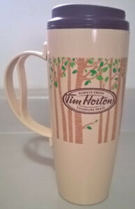 Tim Horton's Always Fresh Thermo-Serv Travel  Mug  Cup with Tree