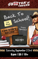 Back Forty Presents COUNTRY NIGHT at Shooters Tavern