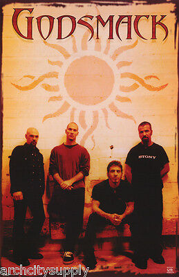 POSTER: MUSIC : GODSMACK - ALL 4 GROUP POSE -  FREE SHIPPING ! #6208  LC13 D