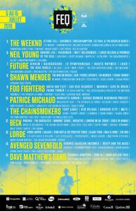 3 billets festival d'été de Québec