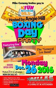 Boxing Day Party Kitchener / Waterloo Kitchener Area image 1