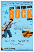 Wanna be a rock star... Join our summer ROCK SKOOL!