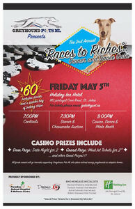 """""""Races to Riches"""" Greyhound Gala Friday May 5th!"""