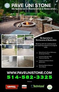 PAVE_UNI STONE - UNISTONE CLEANING , SEALING AND RE-LEVELLING - West Island Greater Montréal image 5