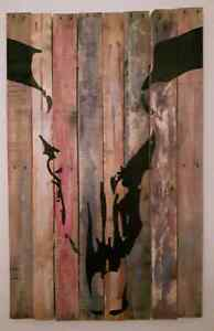 Grande peinture sur bois