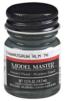 Testors Model Master Black Green/Schwarzgrün RLM70 1/2 oz Enamel Paint TES2080