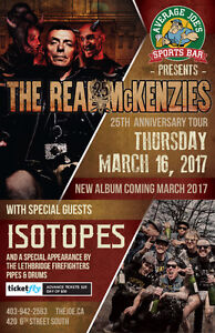 The Real McKenzies w/ Isotopes & Leth Firefighters Pipes & Drums