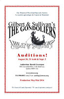 AUDITIONS - 'The Gondoliers'