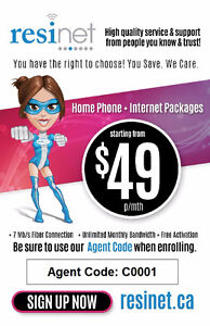 Save On Home Phone And Internet Bundle