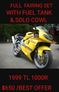 FULL FAIRING SET WITH SOLO COWL AND FUEL TANK 1999 TL1000R