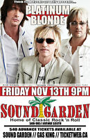 PLATINUM BLONDE LIVE AT SOUND GARDEN