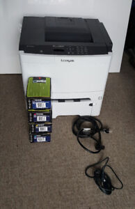 Lexmark CS410DTN colour laser printer (with extra OEM toners)