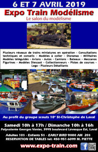 LE SALON DU HOBBY 6-7 AVRIL 2019 L'EXPO-MODELISME, LE PLUS GRAND