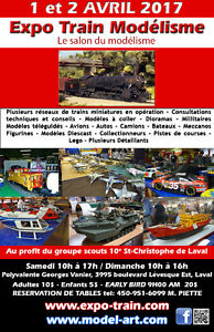 LE SALON DU HOBBY 1 - 2 AVRIL 2017.  L'EXPO-TRAIN MODELISME,  LE