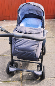 Silver Cross Travel System - Pram/Pushchair & Car Seat + Accessories