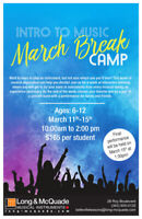 2019 March Break Camp at Long & McQuade  Belleville