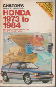 Chilton's Honda Repair and Tune-Up Guide 1973-1984