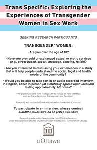 Invitation to research study (Trans women in sex work)
