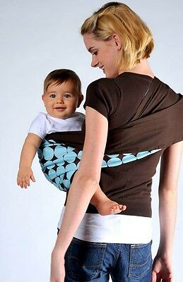 Baby Carrier Cotton Toddler Infant Sling Wrap Pouch carrier Blue 0-3 Y no ring