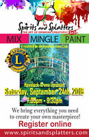 Spirits and Splatters Paint night - Havelock Lions