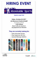 Pop-Up Hiring Event for Abominable Sports
