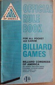1965 Billiard Congress of America Official Rule Book