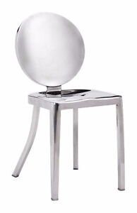 POLISHED STAINLESS STEEL BAR STOOL COUNTER STOOL DINING CHAIR
