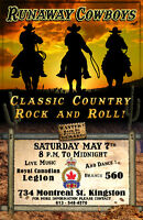 Live Band Sat. May 7th 8 P.M. - 12 A.M 560 Legion Kingston.