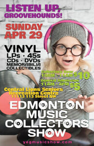 EMCS Tons of Vinyl Records, LPs, 45s and CDs Sunday April 29