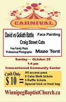 Christian Carnival Oct 25th, 1-4pm Crescentwood Community Center