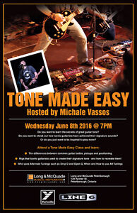 """Tone Made Easy""clinic with Michael Vassos at Long and McQuade"