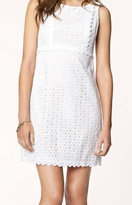 AUTHENTIC JUICY COUTURE – WHITE BONNIE EMB DRESS – SIZE 0 – NEW