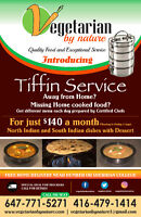 Vegetarian by Nature - Tiffin Service